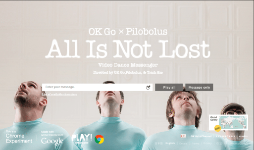 "HTML5 video ""All is not lost"""