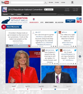 Republican National Convention main YouTube page