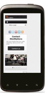 MiniMatters blog mobile look