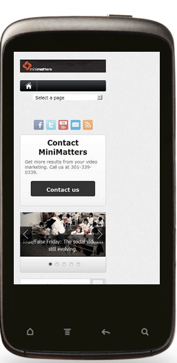 MiniMatters blog mobile look