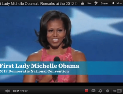 True/False Friday: The First Lady's an even better speaker now than she was in 2008.