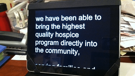 533x300 ipad Teleprompter2 Video Interview Tips Communicating Your Best Message %page