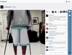 Kobe Bryant on Instagram 300x228 Instagram Videos Have Enough Time for a Message %page
