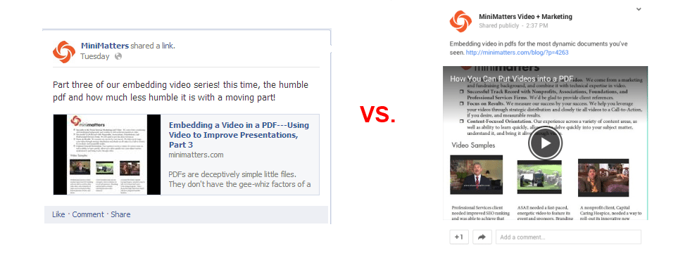 FacebookVSGooglePlus Sharing a Video on Google Plus %page