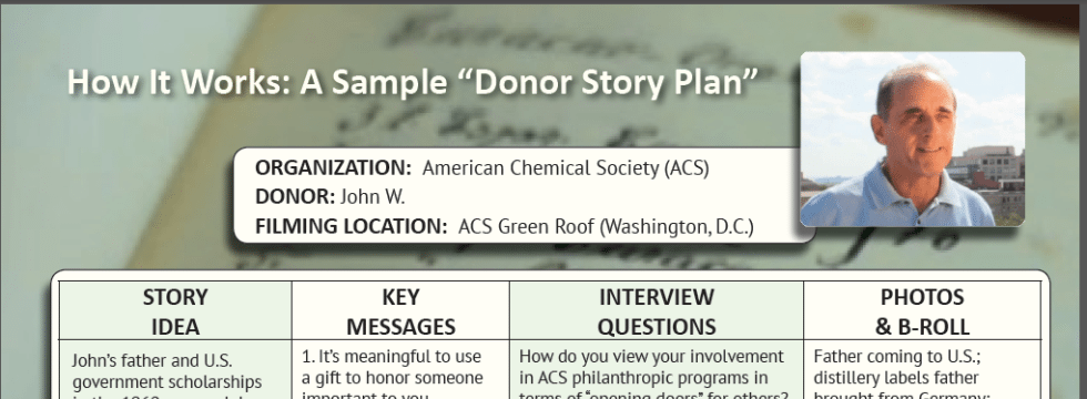donorstoryplan3 Video Production Planning for Donor Stories  Try a Donor Story Tool! %page
