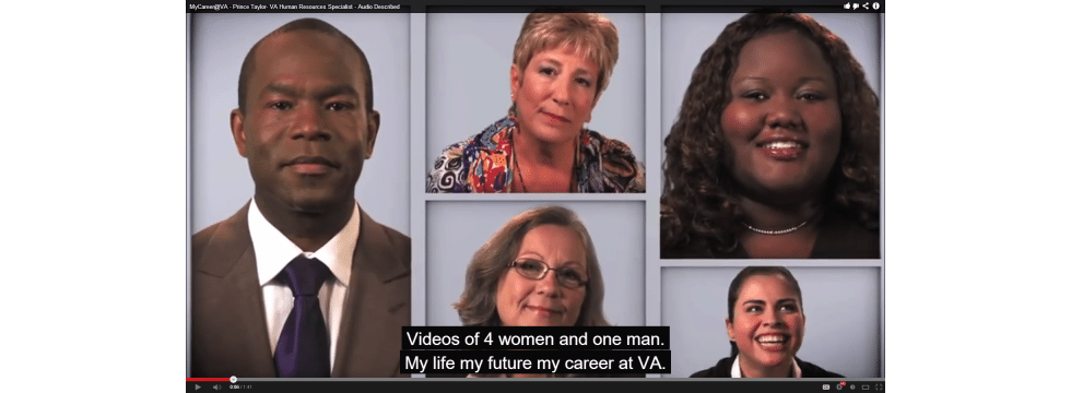 508compliantvideo4women1man Section 508 Compliance and Video %page