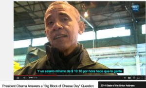 Spanish YT Captions Obama in WI