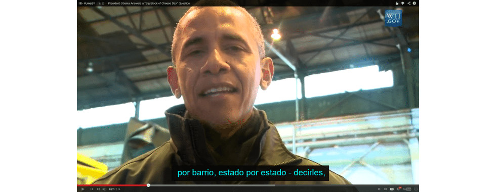 SpanishCaptionsObama Get More YouTube Views with Foreign Language Subtitles %page