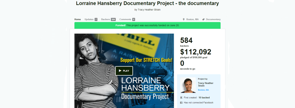 LorraineHansberryDocumentaryProjectKickstarterslider2 Crowdfunding and Video Are a Match Made in Heaven %page