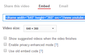 embedcodefromYouTube 300x196 Great PR Requires a Great YouTube Channel %page