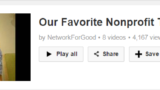 NetworkforGoodplaylistthankyouvideos 160x90 Video Makes Year End Fundraising Effective %page