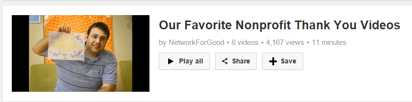 NetworkforGoodplaylistthankyouvideos A Thank You Video to Promote Donor Retention