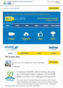 BizClips Homepage 216x300 Online Video Contests %page
