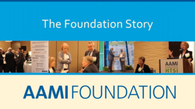 AAMI Foundation story 400x224 Medical Association Foundation Video   AAMI Foundation %page