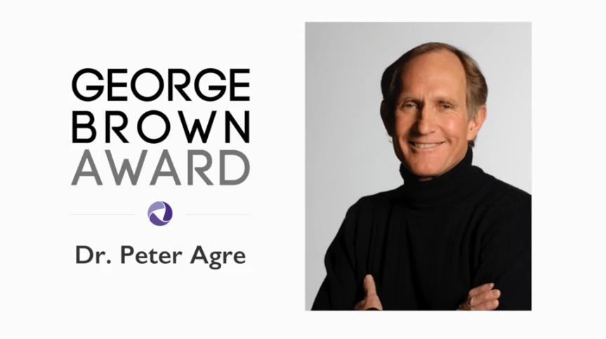 Peter Agre George Brown Award Honoree Video CRDF Global %page