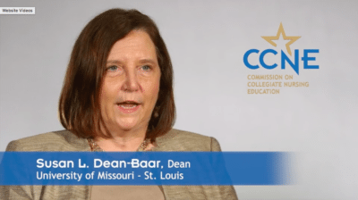 Susan Dean Baar 400x224 Accreditation Marketing Video   CCNE %page