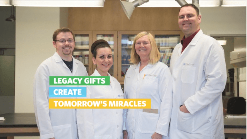 cancer research lab IRA Gift Story Video %page