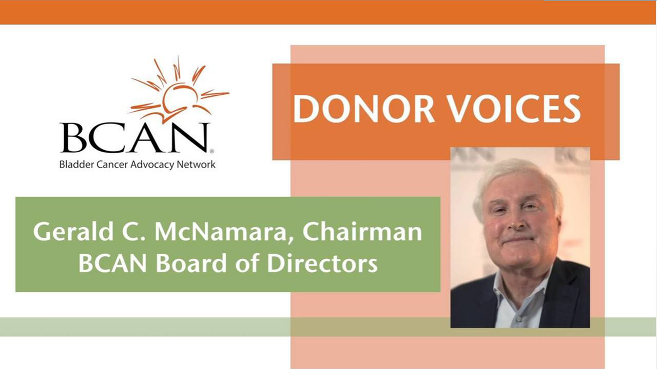 BCAN Board Chairman is a Donor Voice Testimonial Videos %page