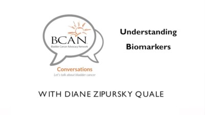 Title image for a Bladder Cancer Advocacy Network video about biomarkers 400x225 Medical Test Video %page