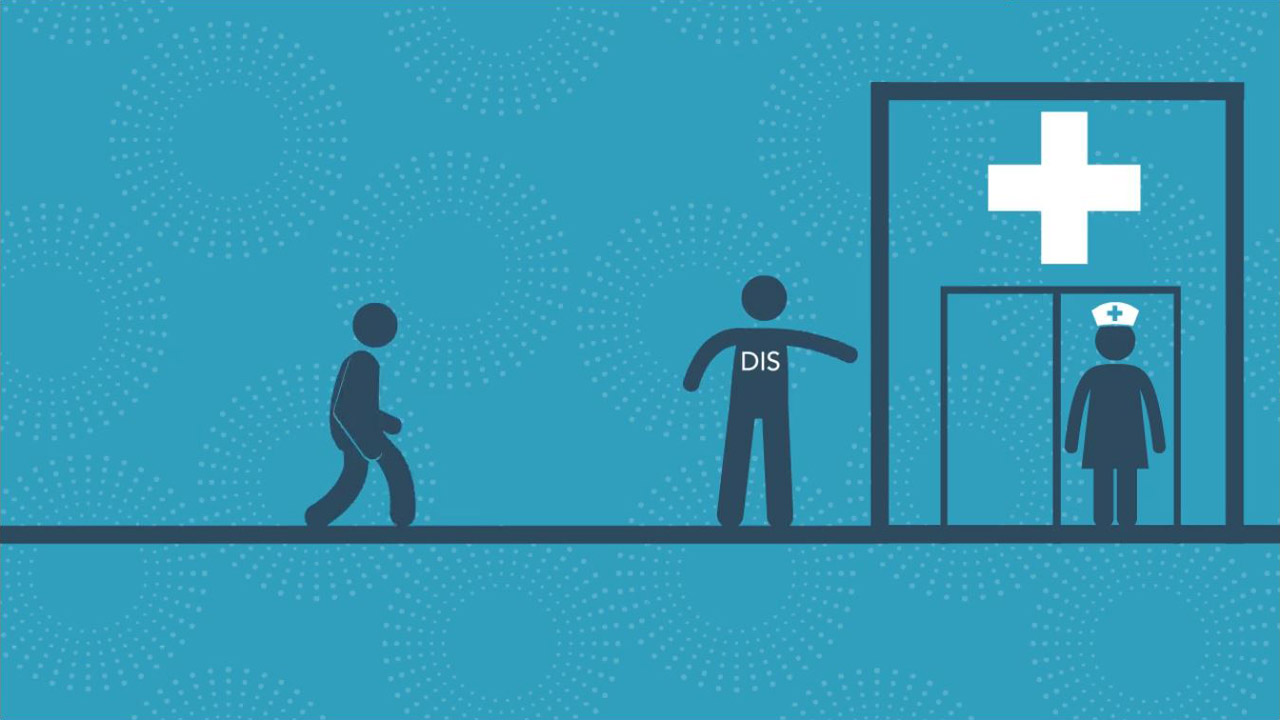 Animation showing one role of disease intervention specialists Animated Explainer Video %page