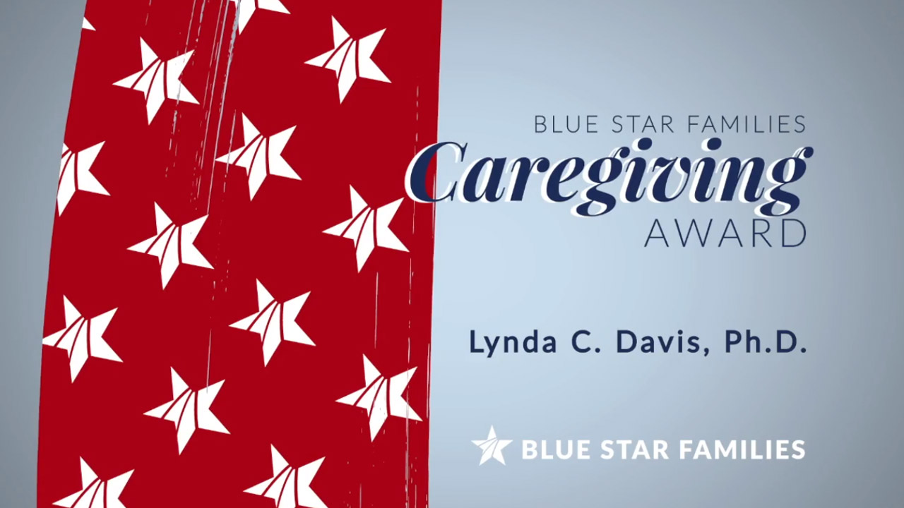 Appreciation award video title for Blue Star Families Caregiving Award Appreciation Video %page