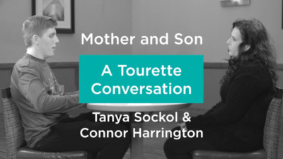 Tanya Sockol and Connor Harrington having a mother and son Tourette conversation 400x225 Home %page