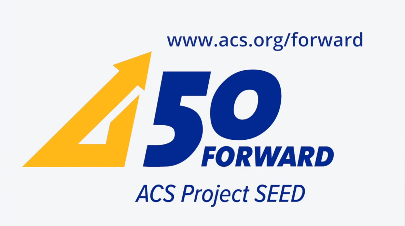 animated campaign logo minimatters produced for american chemical society project seed 50 forward Animated Campaign Logo %page