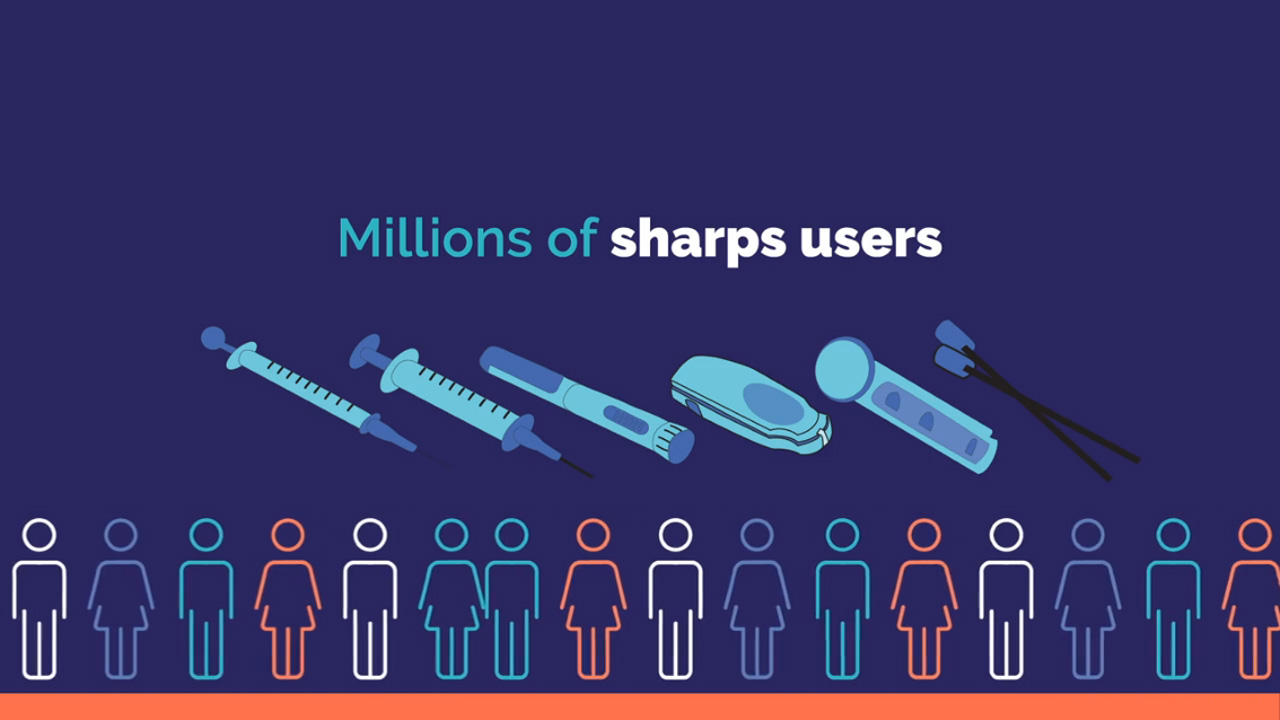 graphic scrolling to repesent millions people using sharps animated video from powerpoint slides