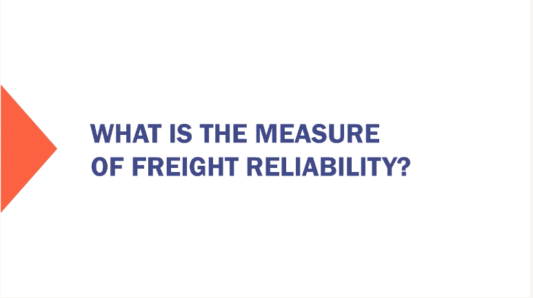 Freight Reliability Measure 1 New Procedures Training   Video Is Key %page