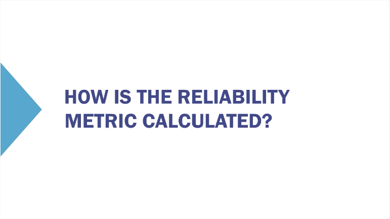 How Reliability Metric Calculated New Procedures Training   Video Is Key %page