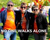 no one walks alone image charity walk participants BCAN virtual fundraiser videos