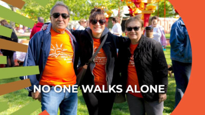 no one walks alone image charity walk participants from BCAN virtual fundraiser video 400x225 Virtual Fundraising Videos Can Achieve Funding Results %page