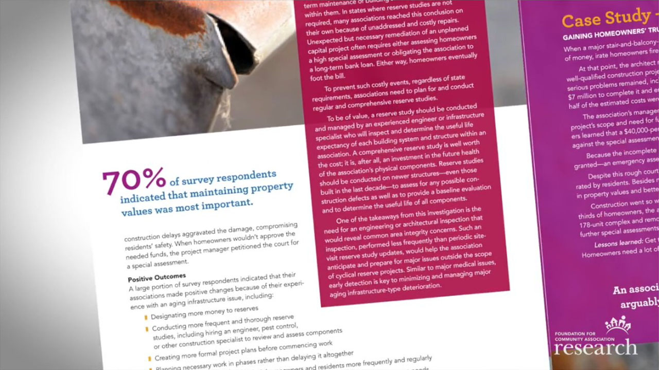 research summary video image to promote new report findings Foundation Video %page