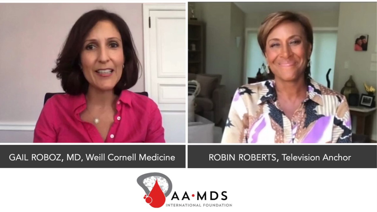 virtual filming video conversation roboz md with robin roberts for aamds online event Virtual Filming Video %page