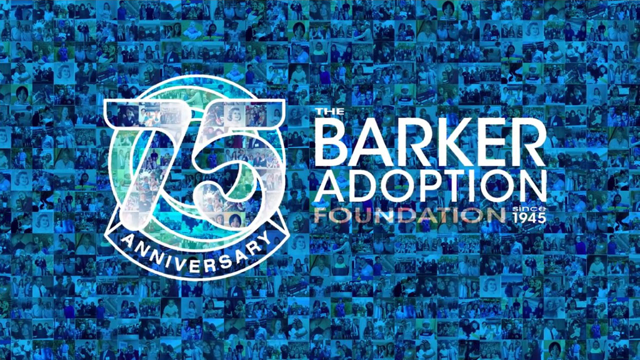 virtual event programs video showing the barker adoption agency 75th anniversary animated logo Virtual Event Programs   5 Special Moments for Professional Video %page