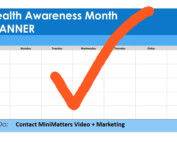 health awareness month planner contact minimatters video marketing orange to-do checkmark