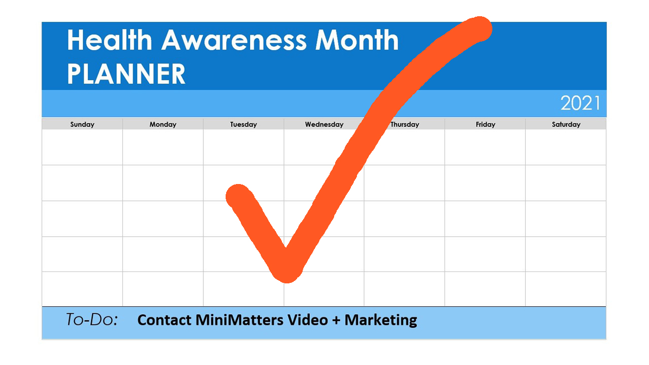 health awareness month planner contact minimatters video marketing orange to do checkmark Why Add Video to Your Health Awareness Month Strategy %page