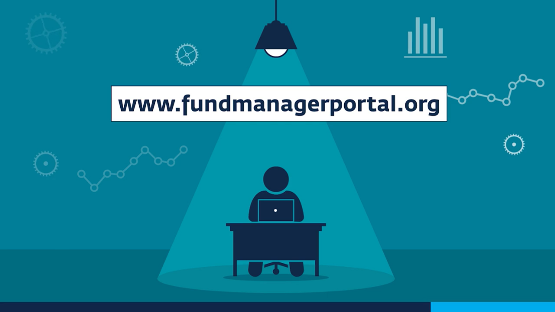 financial portal video animation person at computer with website url call to action Financial Portal Video %page