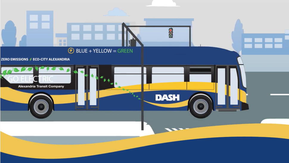 transit signal priority video custom animated bus moving through intersection Transit Signal Priority Video %page